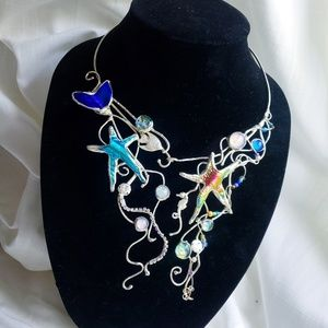 Hand Made Glass Fused Mermaid Necklace